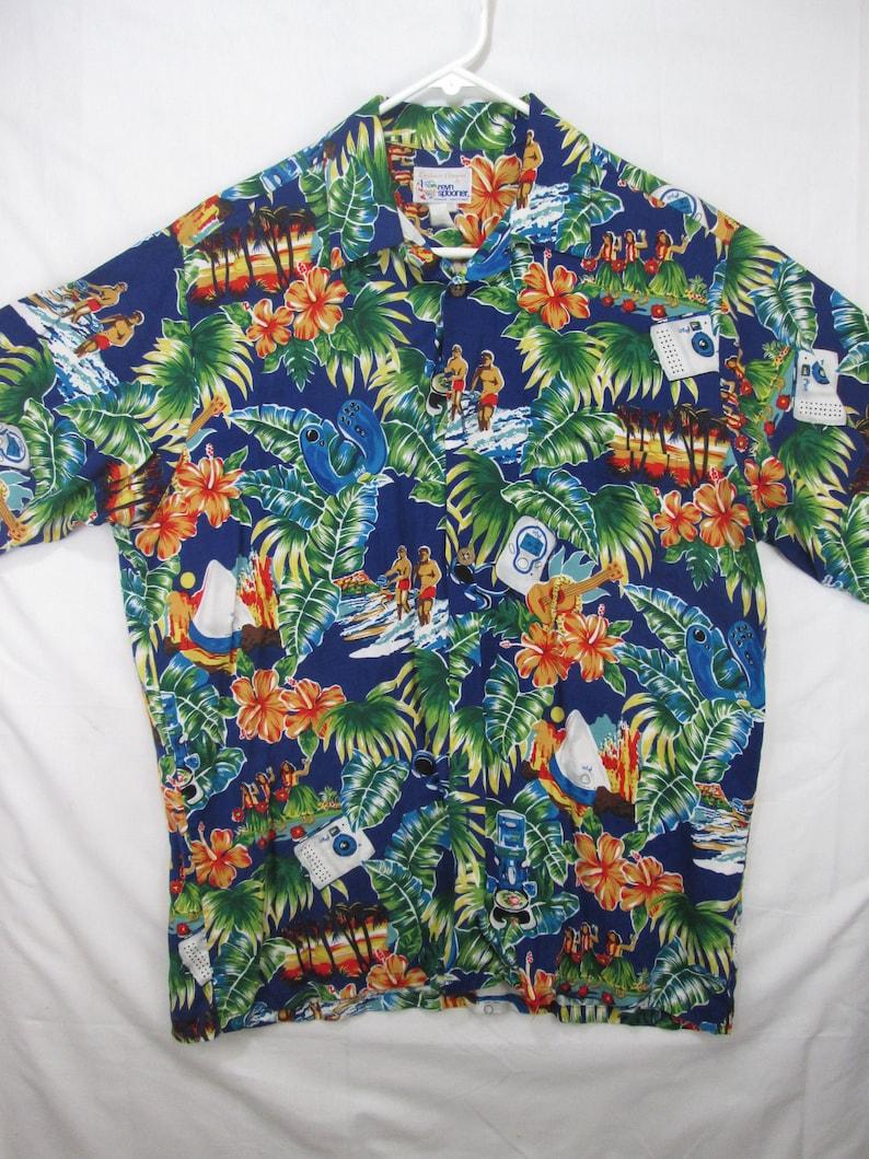 78f06c9c8 Vintage Reyn Spooner for Intel electronics aloha shirt   Etsy