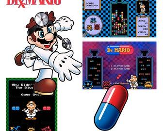 Video Game Art Print - Dr Mario Value Pack - Nintendo Tribute