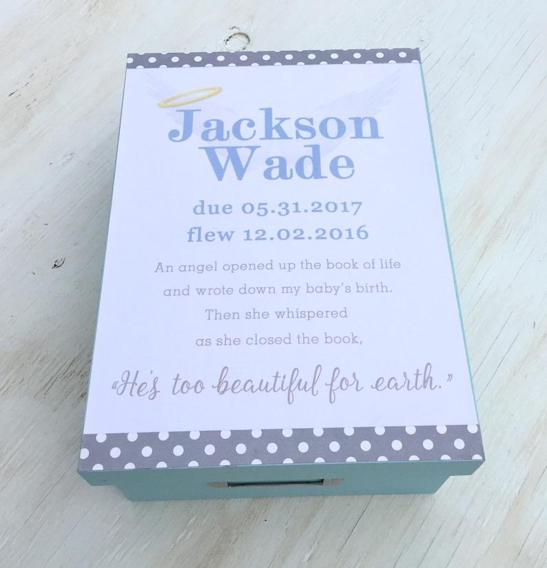 Baby Boy Memorial Gift Keepsake Box For Angel Baby Etsy