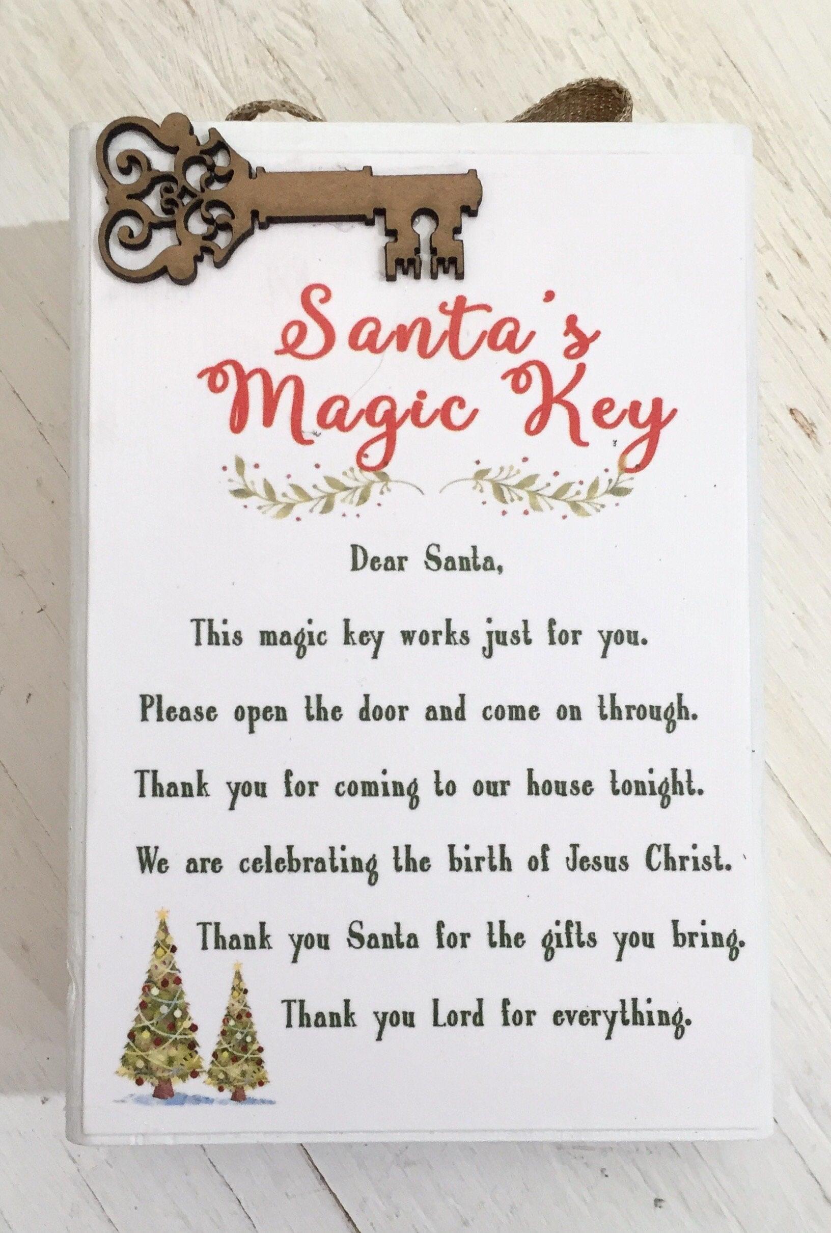 Religious Christmas Gifts.Santa Key Christmas Decor Block Santa S Magic Key