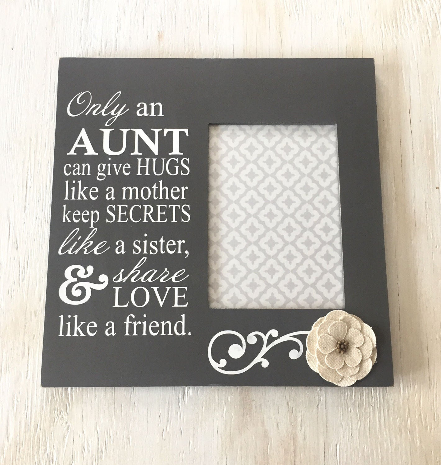 Only an Aunt Can Frame - Aunt Gift - Love Like a Mother - Painted ...