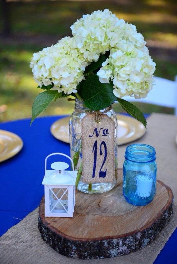 20 Table Numbers Burlap Wedding Centerpieces Custom Etsy