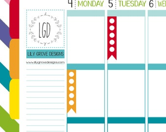 5 Dot To Do List Checklist Flags Planner Stickers - Perfect for Erin Condren, Limelife, Mambi and Plum Paper Planners