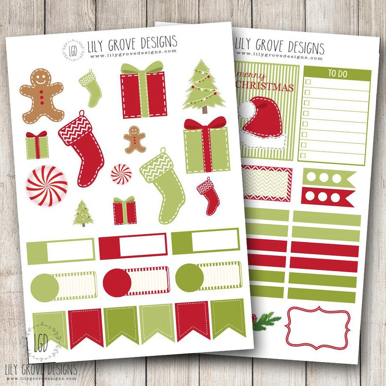 Christmas Weekly Planner Sticker Kit Perfect for use with your Erin Condren