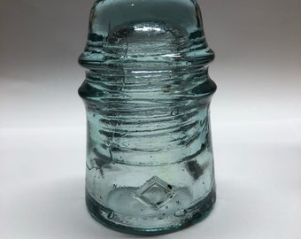 Vintage glass electrical insulator - DIY lighting project - Home decor - collectible