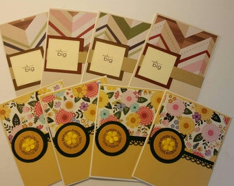 Set Of 8 Handmade Birthday Cards Card Assortment Unisex Bulk Neutral