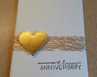 Anniversaire De Mariage à La Main Carte Félicitations En Etsy