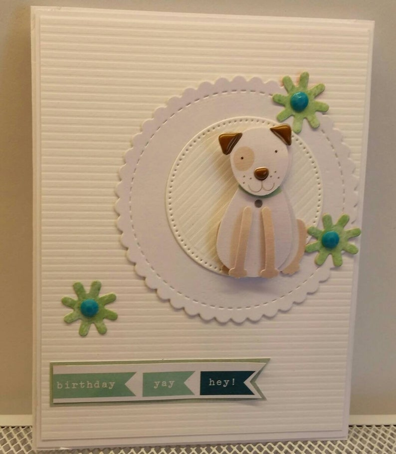 Phenomenal Handmade Birthday Card For Dog Lover For Her For Him Etsy Personalised Birthday Cards Paralily Jamesorg