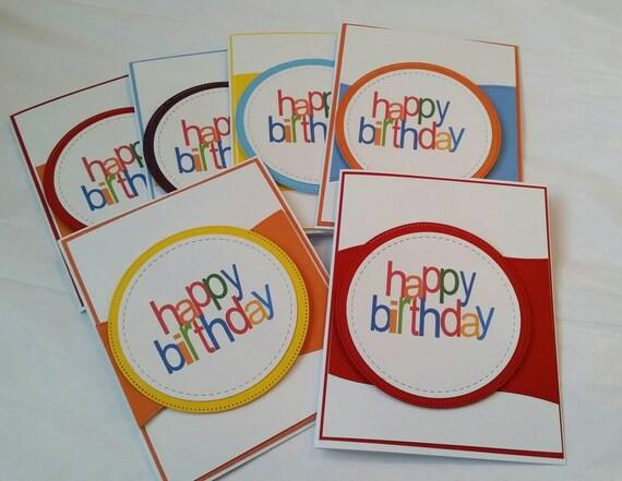 Set Of 6 Handmade Birthday Cards Birthday Card Assortment