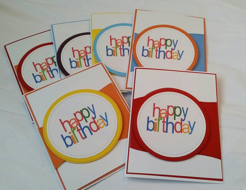 Set Of 6 Handmade Birthday Cards Card Assortment