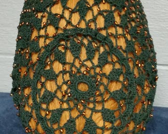 "Wheat Cluster Beaded Snood - Beaded on every row -10"" Long Length"