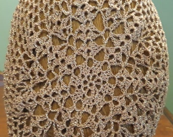 Lacy II Snood in Cotton/Metallic Combination Thread