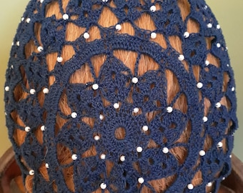 Berka II Fancy Snood in Cotton Beaded Alternating Rows