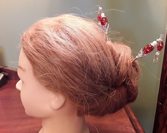 Pair of Metal Hair Sticks- Your choice of color