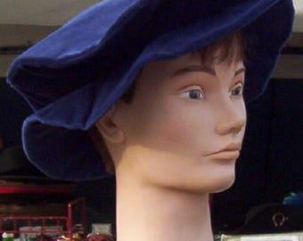 Cotton Velveteen Floppy or Flat Hat