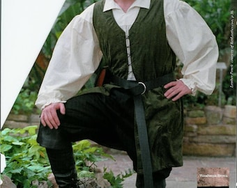 Renaissance Long length Vest in Brown and Black in Size Small to 2X Large