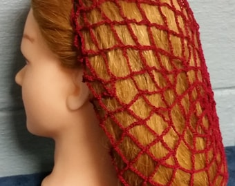 Net Pattern Cotton Hair Snood Available in 3 Lengths