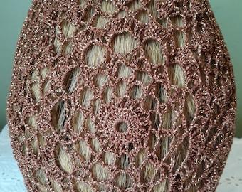 Simplicity Snood in Cotton/Metallic Combination Thread
