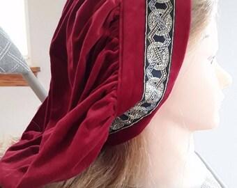 Cotton Velveteen Muffin Hat with Decorative Trim