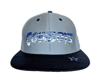 6153f244 Vintage NFL Dallas Cowboys snap back snapback style hat - Gray and Blue  with Star logo on bill - Annco - New with Tags