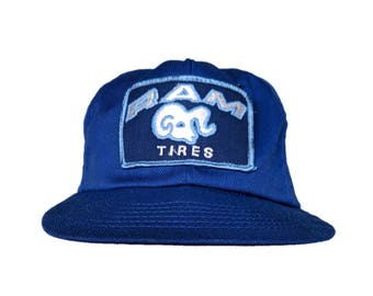 af6af2f4 Vintage Ram Tires Dodge Ram - snapback style - Blue, Silver, and Baby Blue  - Made in USA - Brand Swingster World of Wearables - sz Large