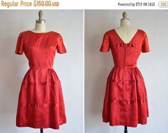 e03ed8ca0b0e 50% OFF SALE 50s Backstage Beauty dress/ vintage 1950s party dress/ 50s bows  and full skirt cocktail dress