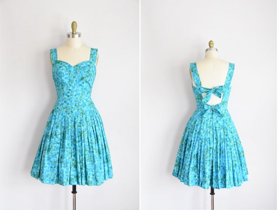 1950s Island Reef dress/ vintage 1950s sundress/de