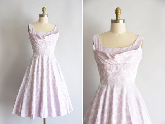 1950s Soft Spoken dress / vintage 50s cocktail dre