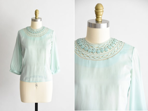 1940s Interlace blouse
