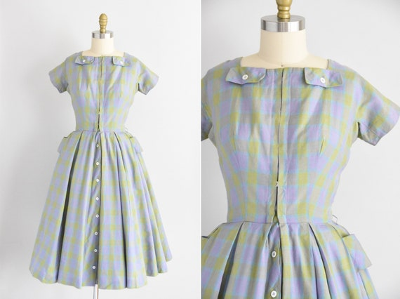 1950s Lavender & Lime dress