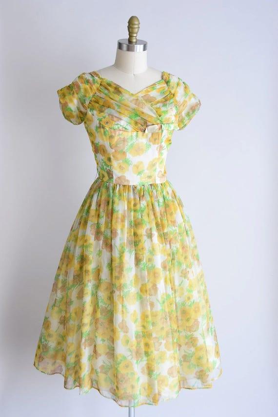 1950s California Poppy dress/ vintage 1950s party… - image 4