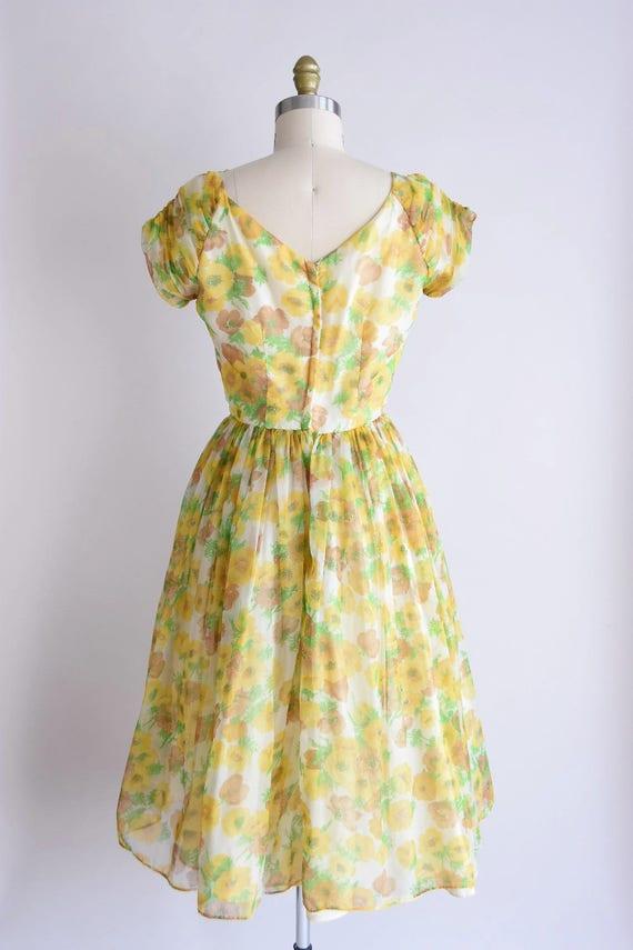 1950s California Poppy dress/ vintage 1950s party… - image 5