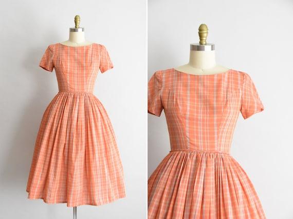 1950s Plaid Friday dress