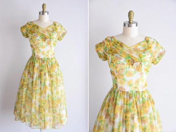 1950s California Poppy dress/ vintage 1950s party… - image 1