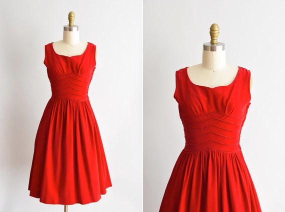 1950s Dynamite dress/ vintage 1950s velvet dress/