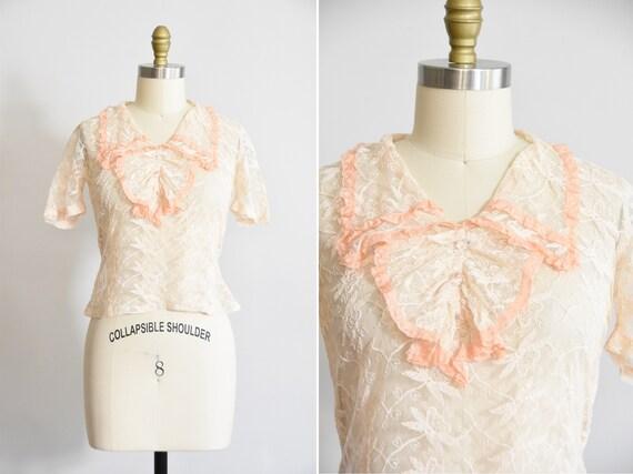 30s  Fleur Délicate blouse