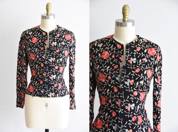 1940s J'adore Les Fleurs blouse - image 1