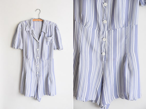 1940s Her Times playsuit / vintage 40s rayon rompe