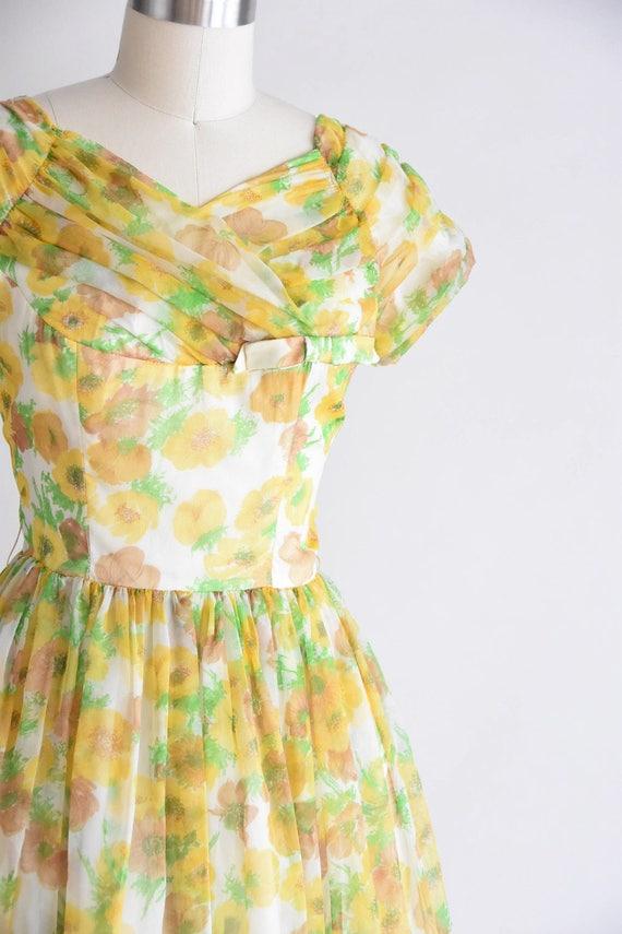 1950s California Poppy dress/ vintage 1950s party… - image 2