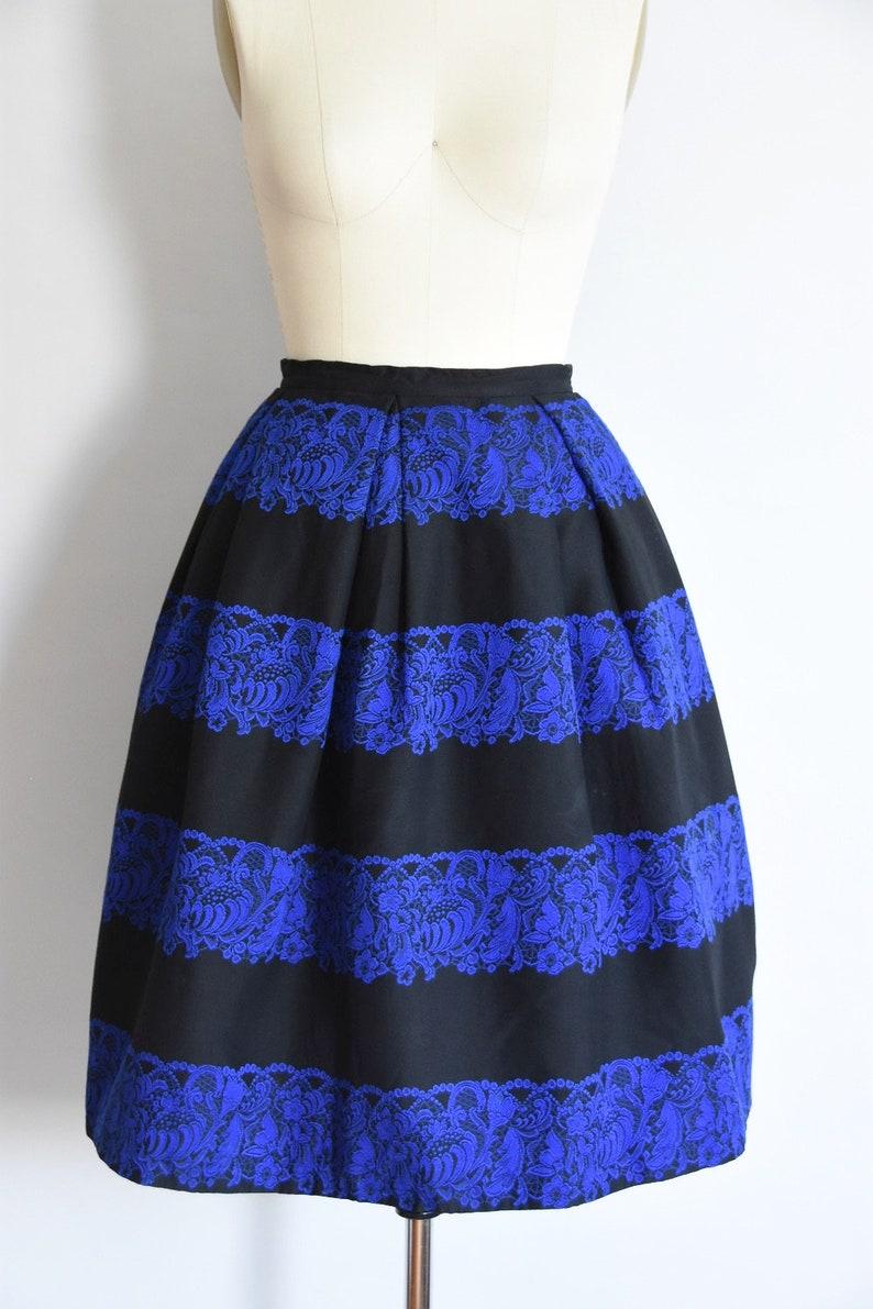 1950s Autumn Blues skirt