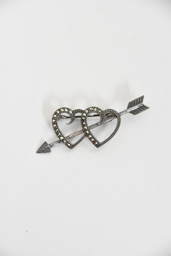 1930s Two Of Hearts brooch