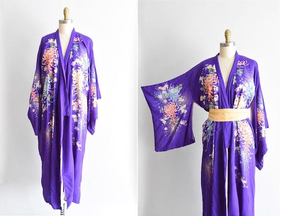 1930s Spider Mums kimono