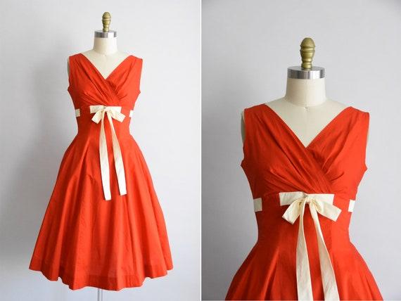 1950s Summer Dreamsicle dress