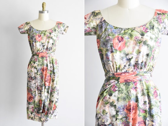 1950s Monet's Oasis dress