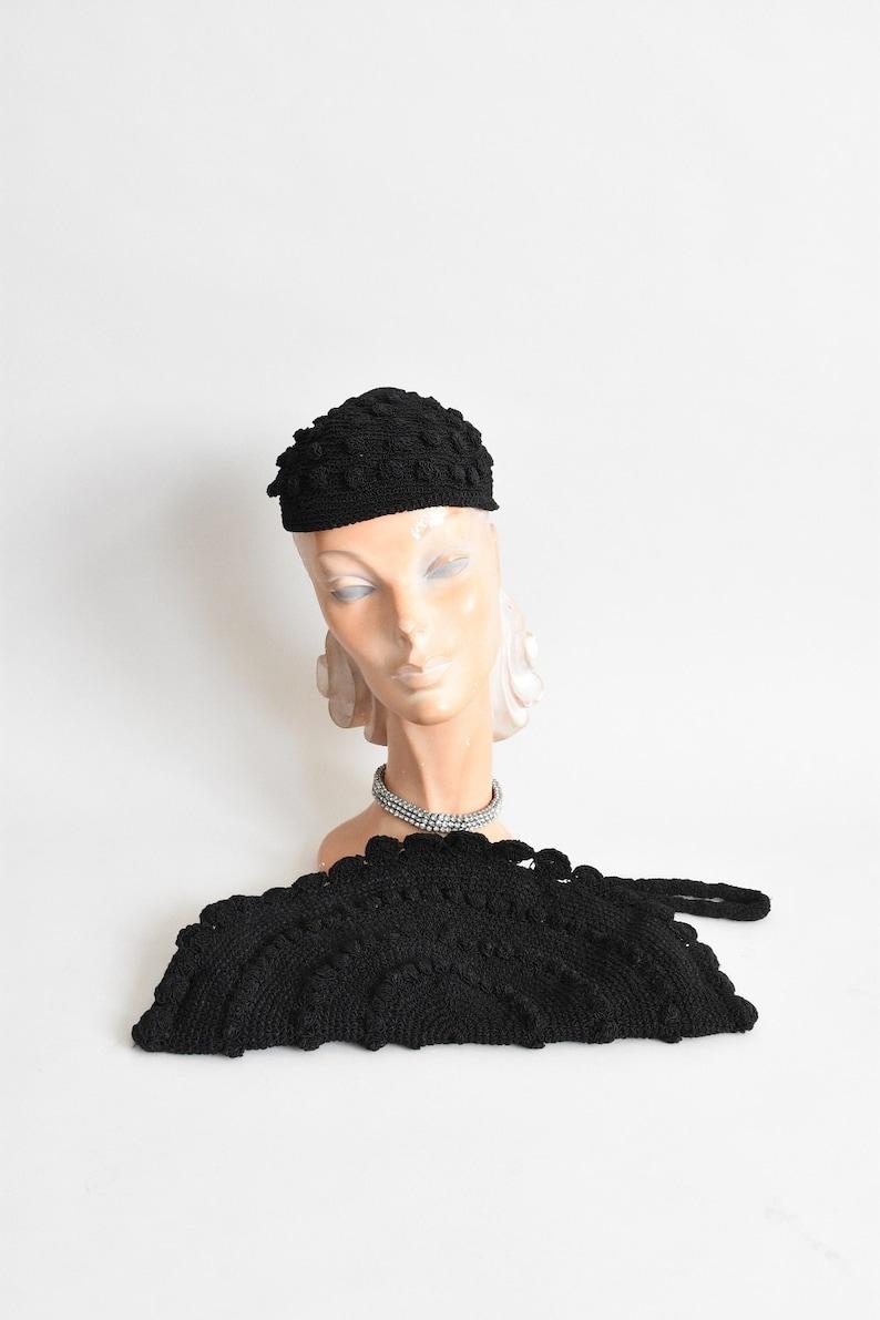 1940s purse & hat 2 pc set image 0