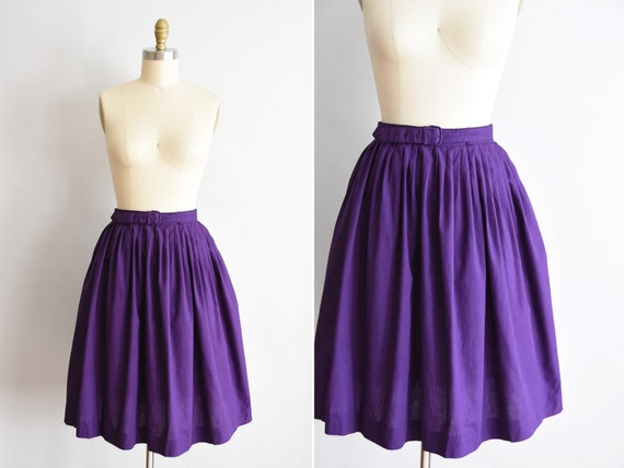 1950s Purple Magic  skirt/ vintage 50s cotton skir