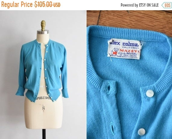 ON SALE 1950s Preppy Gang sweater / vintage 50s ca
