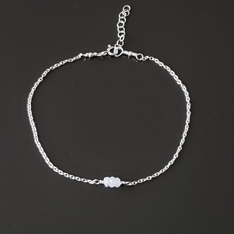 Bridesmaid Anklets-Moonstone Anklet-Ankle Bracelet-Sterling Silver-Bridesmaid-Bridesmaids-Moonstone-June-Beach Wedding-Bridal-Friendship