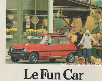 eaebdb685d Vintage Le Car Ad 1970s