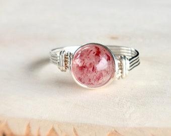 Strawberry Quartz Ring